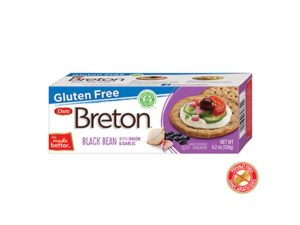 Gluten Free Black Bean and Onion Crackers