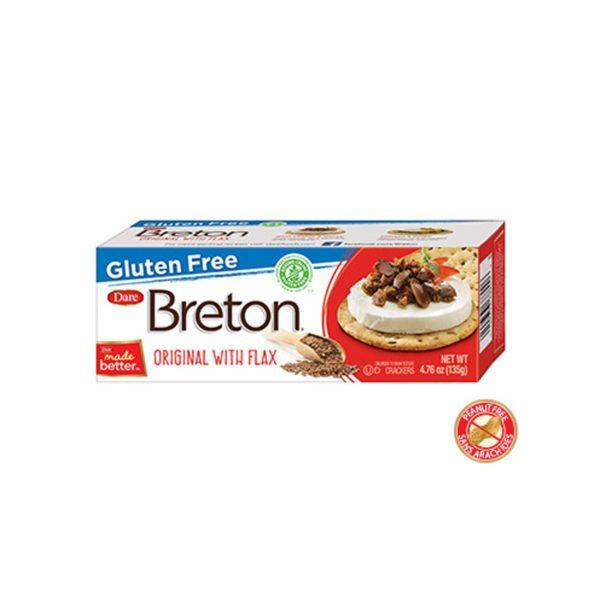 GF Breton Crackers with flax