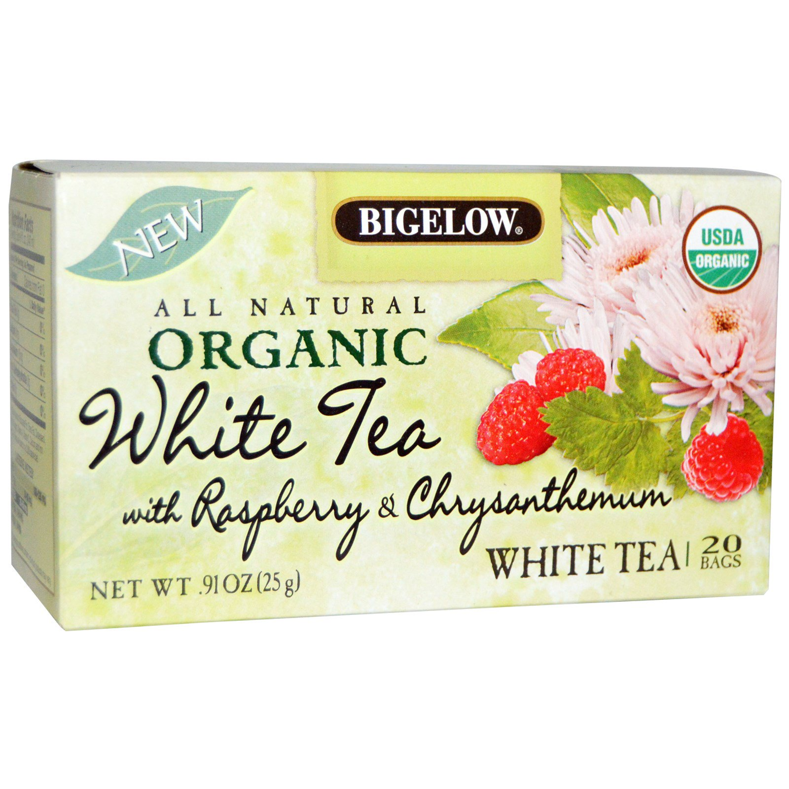 Organic Green Tea with Raspberry Chrysanthemum